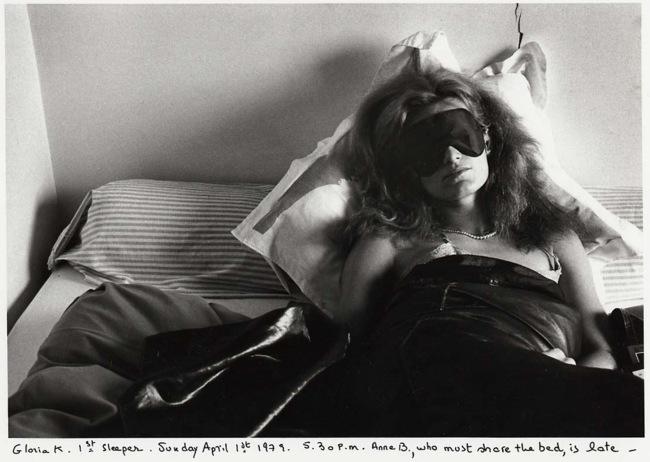 Sophie Calle (French, born Paris, 1953) 'Gloria K., first sleeper. Anne B., second sleeper' 1979