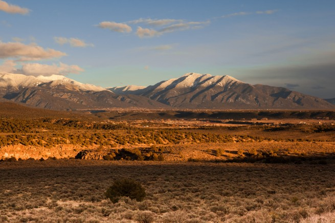 Sangre de Cristo Mountains in Taos County, New Mexico