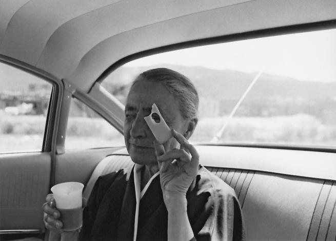 Tony Vaccaro. 'Georgia O'Keeffe, Taos Pueblo, New Mexico 1960' 1960