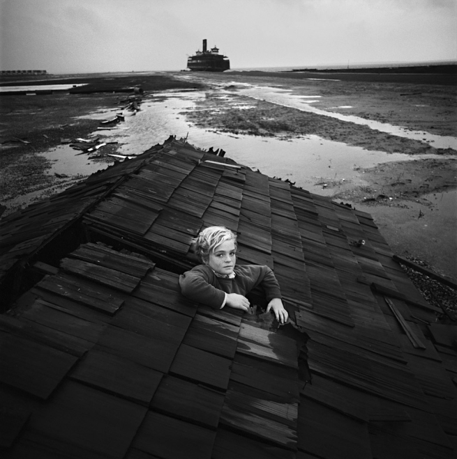 Arthur Tress (American, born 1940) 'Boy in Flood Dream, Ocean City, New Jersey' 1972