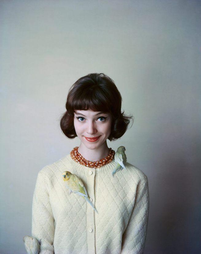 Sabine Weiss. 'Anna Karina pour la marque Korrigan' [Anna Karina for the brand Korrigan] 1958