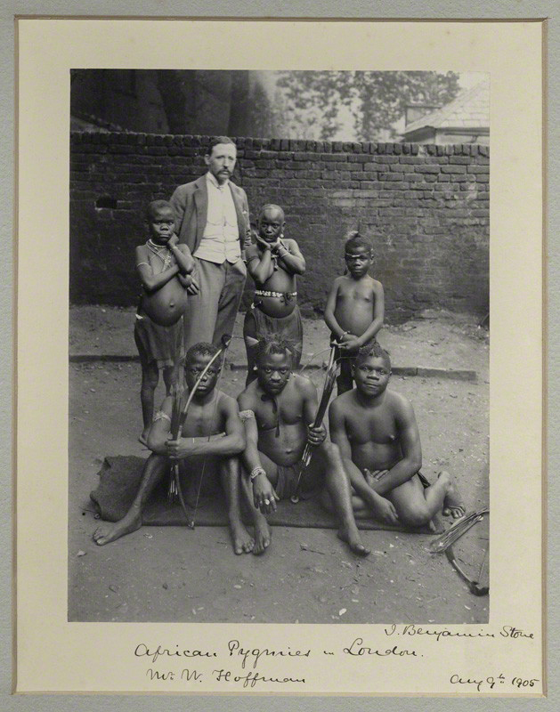 Sir (John) Benjamin Stone. 'African Pygmies in London (including William Hoffman)' 1905