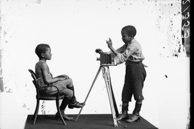London Stereoscopic Company. 'Albert Jonas and John Xiniwe of the African Choir' 1891