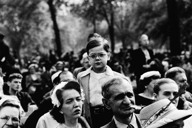 Diane Arbus (1923-1971) 'Boy above a crowd, N.Y.C., 1957' 1957