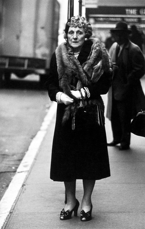 Diane Arbus (1923-1971) 'Woman wearing a mink stole and bow shoes, N.Y.C., 1956' 1956