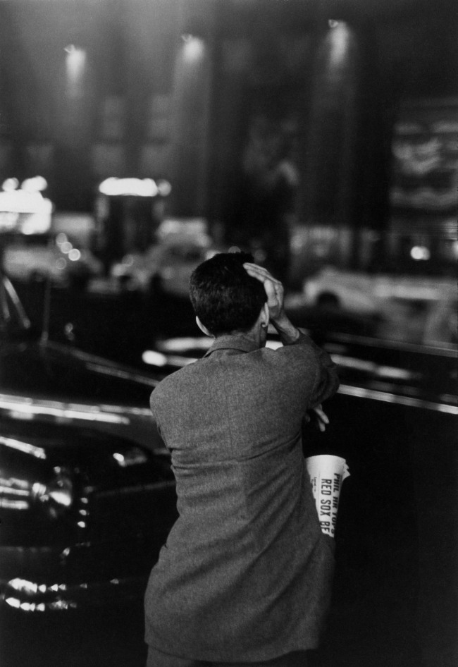 Louis Faurer. 'Unemployed and Looking at Rockefeller Center, New York' 1947