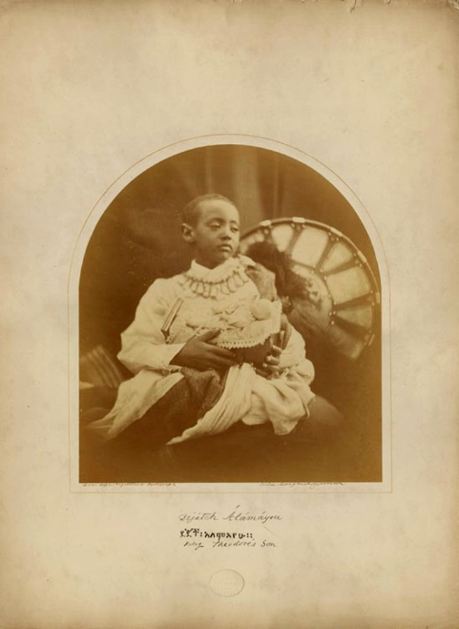 Julia Margaret Cameron. 'Dejazmatch Alamayou Tewodros on the Isle of Wight' 1868