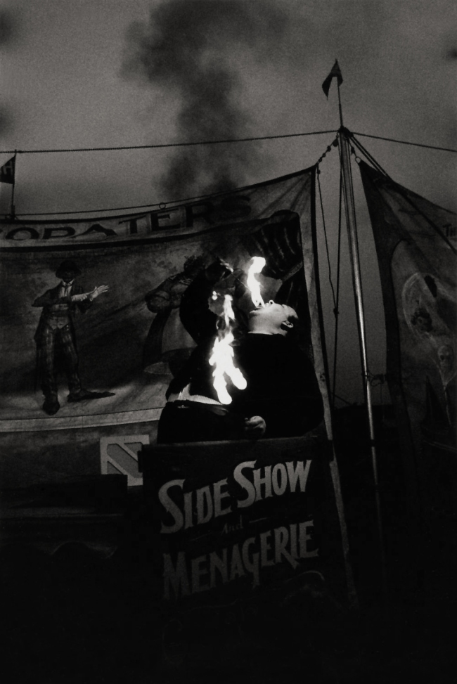 Diane Arbus (1923-1971) 'Fire Eater at a Carnival, Palisades Park, N.J. 1957' 1957