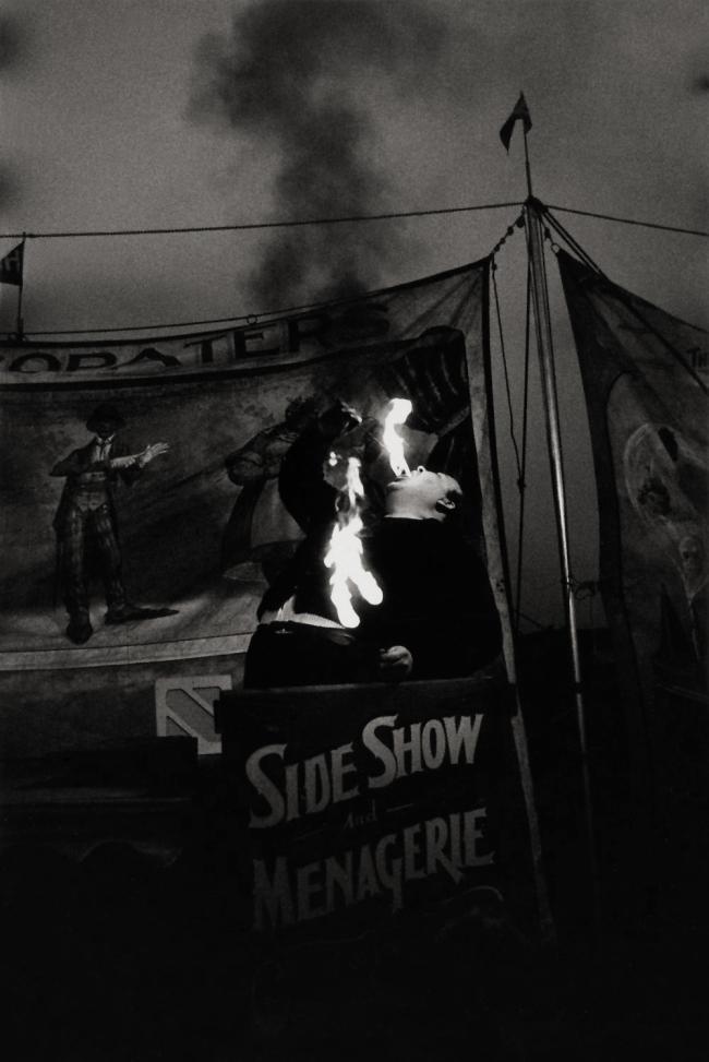 Diane Arbus (1923-1971) 'Fire Eater at a Carnival, Palisades Park, N.J. 1957' 1957