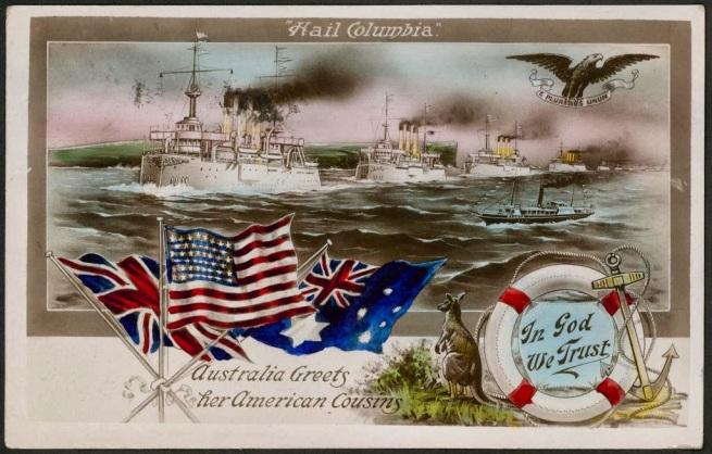 """Hail Columbia"" Australia Greets her American Cousins"