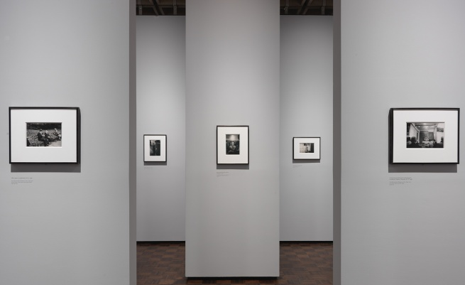 Installation view of the exhibition 'diane arbus: in the beginning' at the Metropolitan Museum of Art, New York