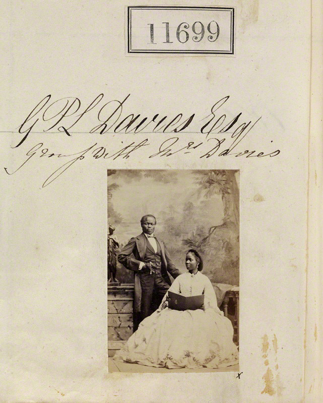 Camille Silvy. 'Sarah Davies (formerly Forbes Bonetta) and James Pinson Labulo Davies' 1862