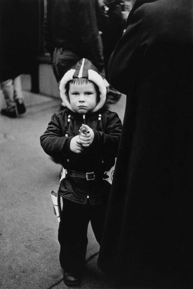 Diane Arbus (1923-1971) 'Kid in a hooded jacket aiming a gun, N.Y.C., 1957' 1957