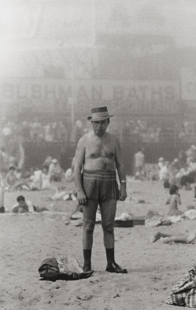 Diane Arbus (1923-1971) 'Man in hat, trunks, socks and shoes, Coney Island, N.Y. 1960' 1960