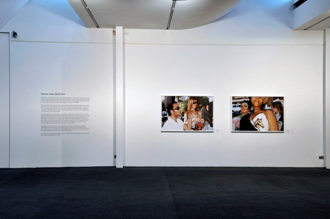 Installation view of 'Glamour stakes: Martin Parr' at Monash Gallery of Art, Melbourne