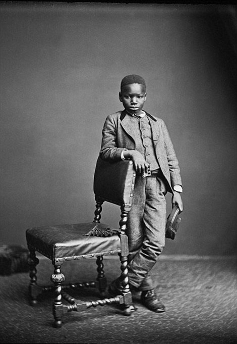 Ndugu M'hali, the African personal servant and later adopted son of explorer of Henry Morton Stanley