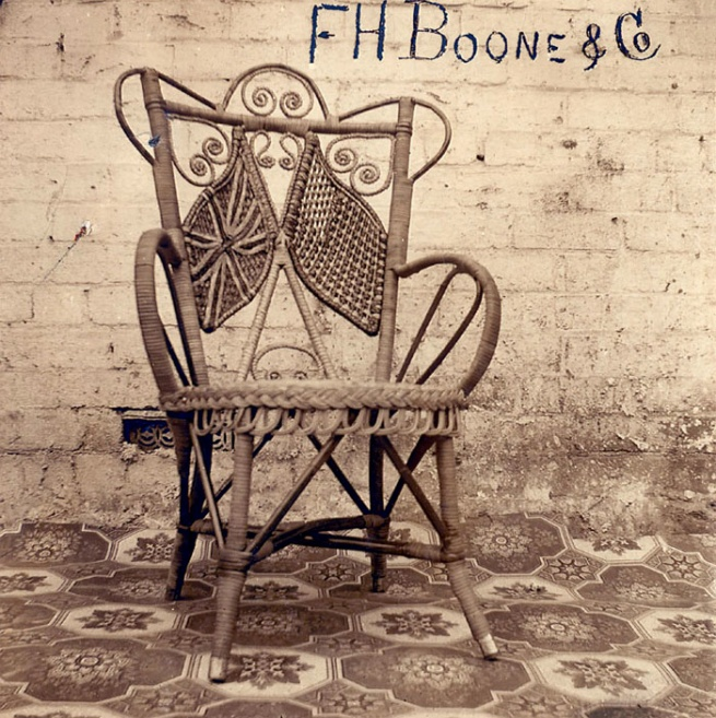 F.H. Boone & Co., 'Untitled [Wicker chair supplied to the American Fleet during their visit]' 1908