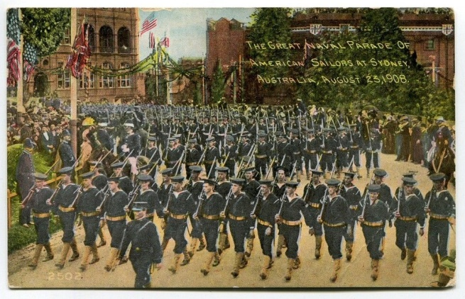 The Great Naval Parade of American Sailors at Sydney, Australia, August 23, 1908