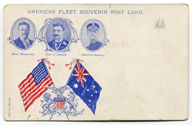 Semco Series American Fleet Souvenir Post Card (verso) 1908