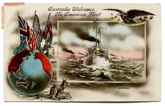 C.B & Co. S. 'Australia Welcomes The American Fleet' 1908