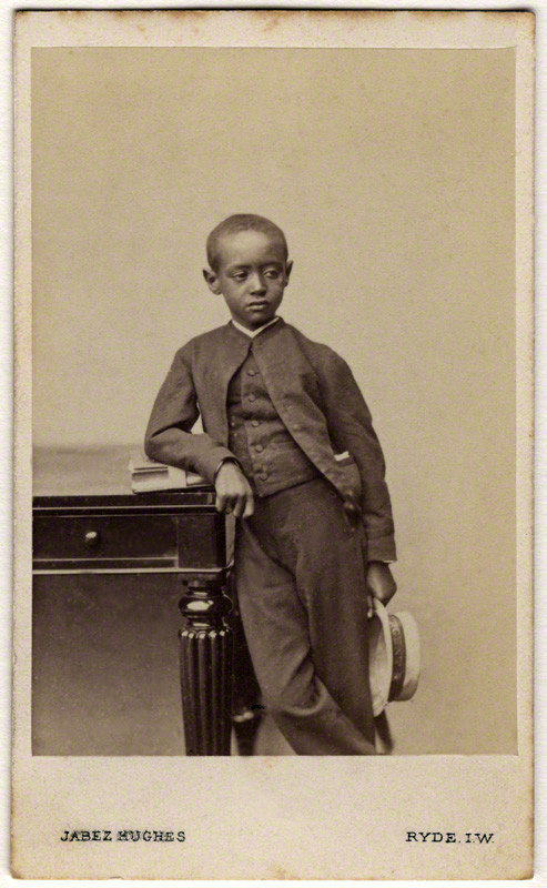 (Cornelius) Jabez Hughes. 'Prince (Dejatch) Alamayou of Abyssinia (Prince Alemayehu Tewodros of Ethiopia)' 1868