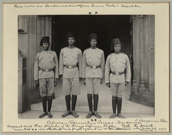 Sir (John) Benjamin Stone. 'Sergeant and three Privates of the King's African Rifles' 1902