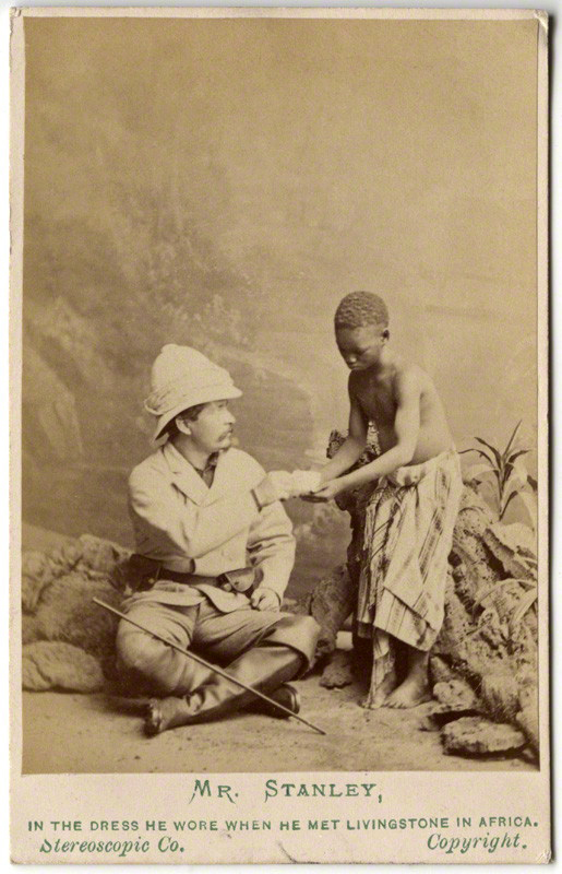 London Stereoscopic & Photographic Company. 'Sir Henry Morton Stanley; Kalulu (Ndugu M'hali)' 1872