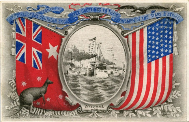 'The People of the Southern Cross Offer Greetings to their Kinsmen of the Stars & Stripes' 1908