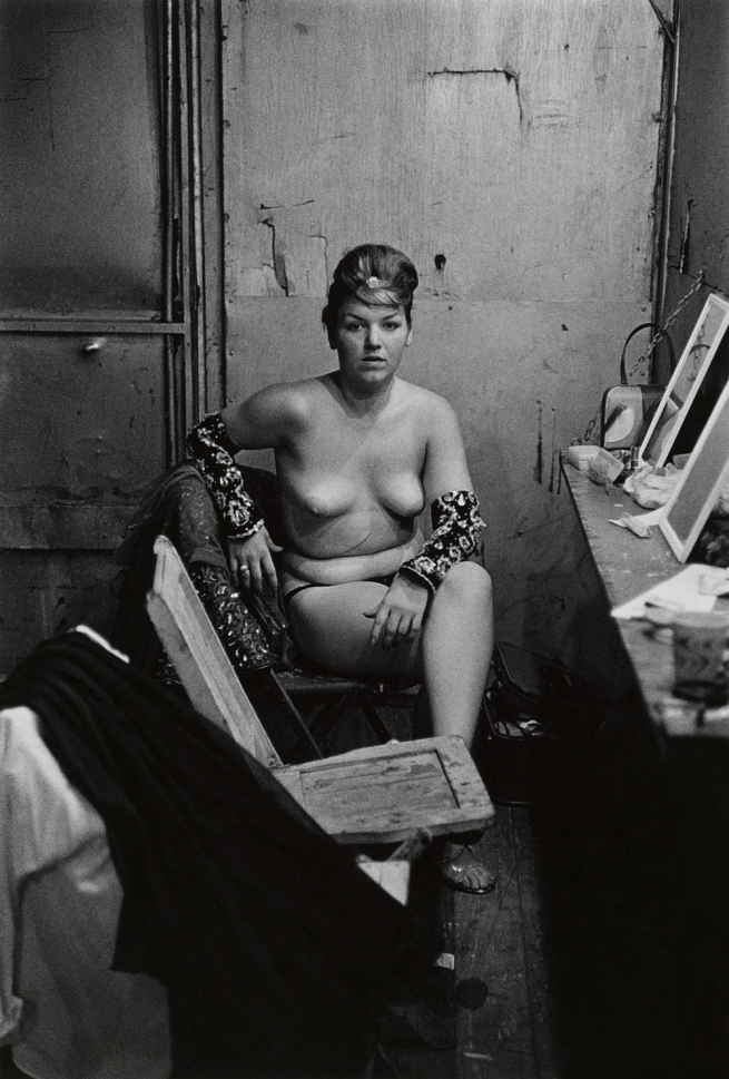 Diane Arbus (1923-1971) 'Stripper with Bare Breasts Sitting in Her Dressing Room, Atlantic City, N.J. 1961' 1961