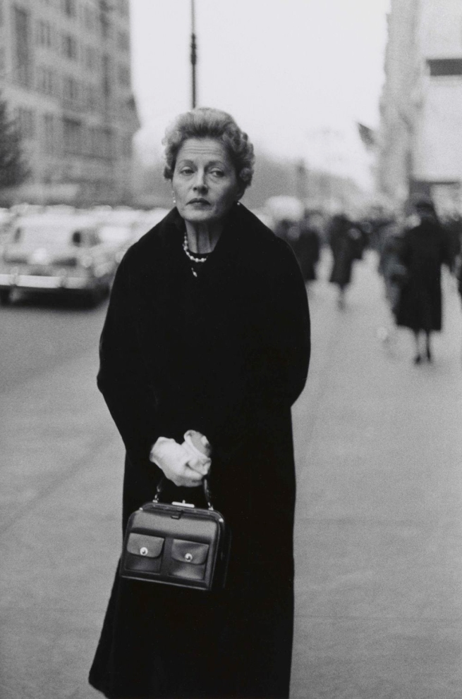 Diane Arbus (1923-1971) 'Woman with white gloves and a pocket book, N.Y.C. 1956' 1956