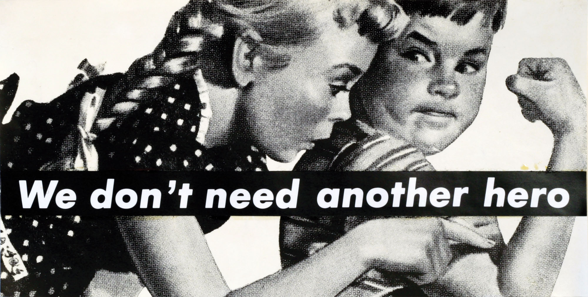 barbara kruger you thrive on mistaken identity art blart barbara kruger untitled we don t need another hero 1987