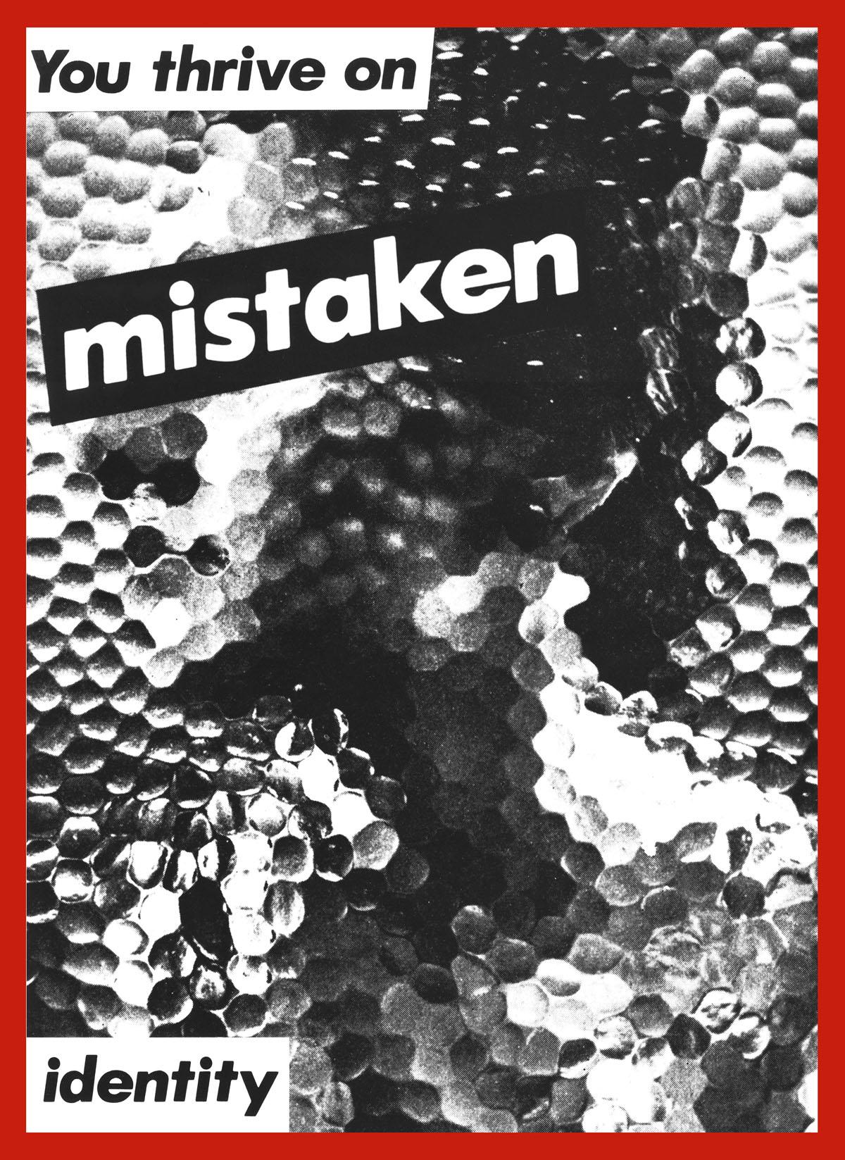 barbara kruger you thrive on mistaken identity art blart untitled you thrive on mistaken identity 1981