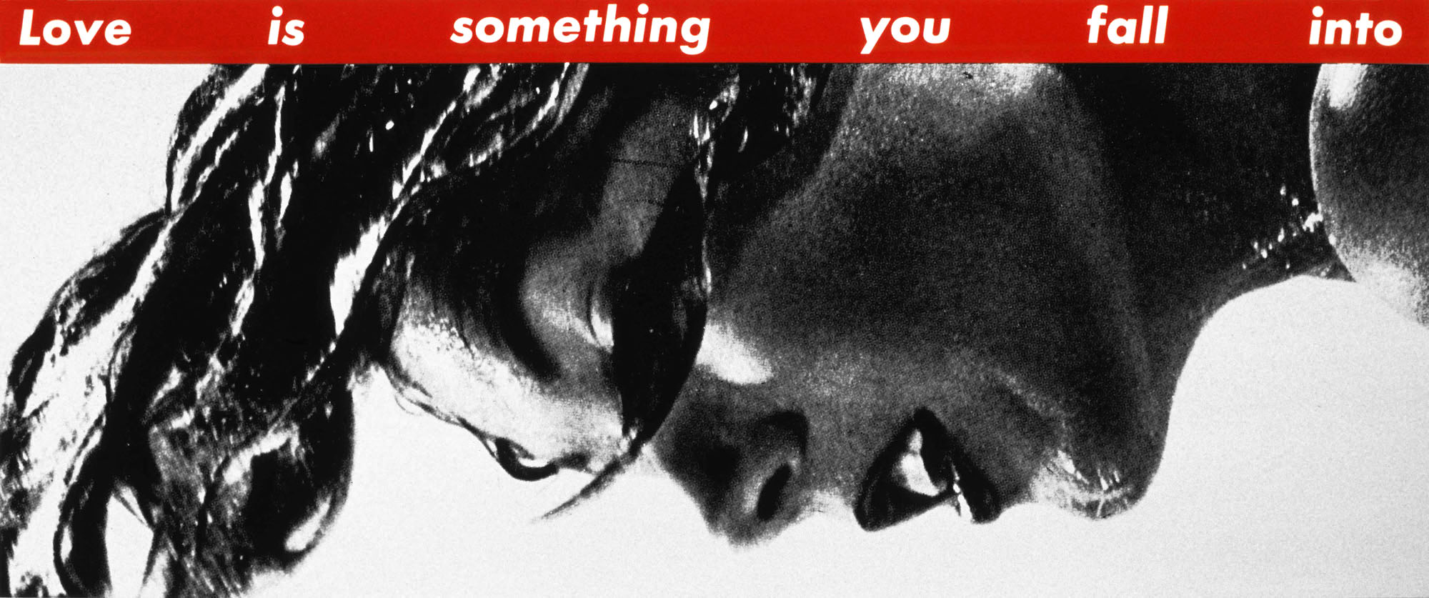 barbara kruger you thrive on mistaken identity art blart barbara kruger untitled love is something you fall into 1990