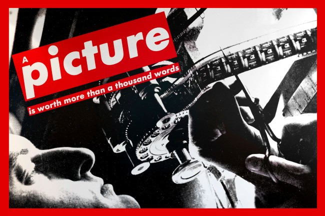 Barbara Kruger. 'Untitled (A picture is worth more than a thousand words)' 1992