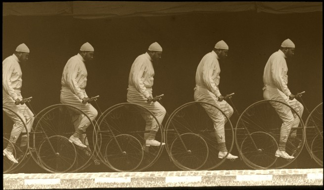 Étienne Jules Marey. 'Chronophotograph of a Man on a Bicycle' c. 1885-1890