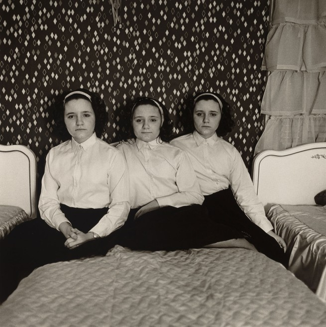 Diane Arbus. 'Triplets in their Bedroom, N.J.,' 1963