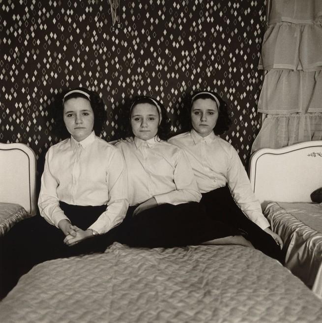 Diane Arbus. 'Triplets in their Bedroom, N.J.,' 1963