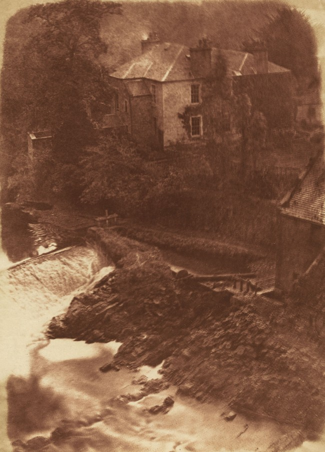 David Octavius Hill and Robert Adamson. 'Colinton Manse and weir, with part of the old mill on the right' 1843-1847