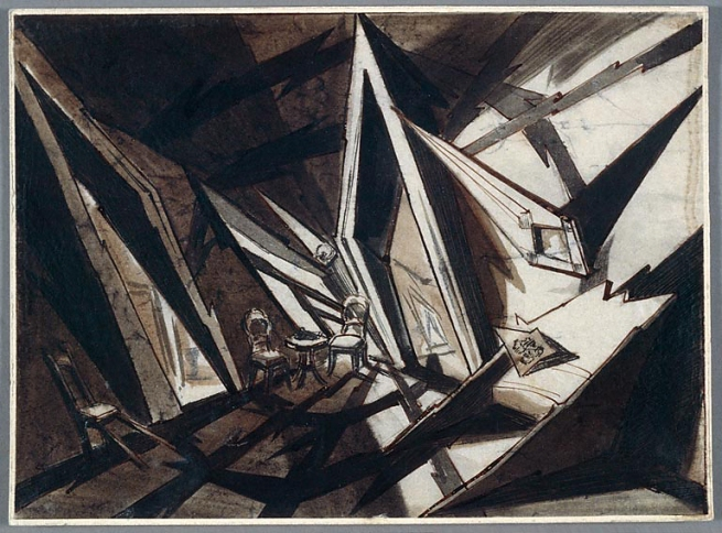 Andrei Andrejew (Russia, 1887-1966) 'Set design drawing for Crime and Punishment (Raskolnikow)' 1923