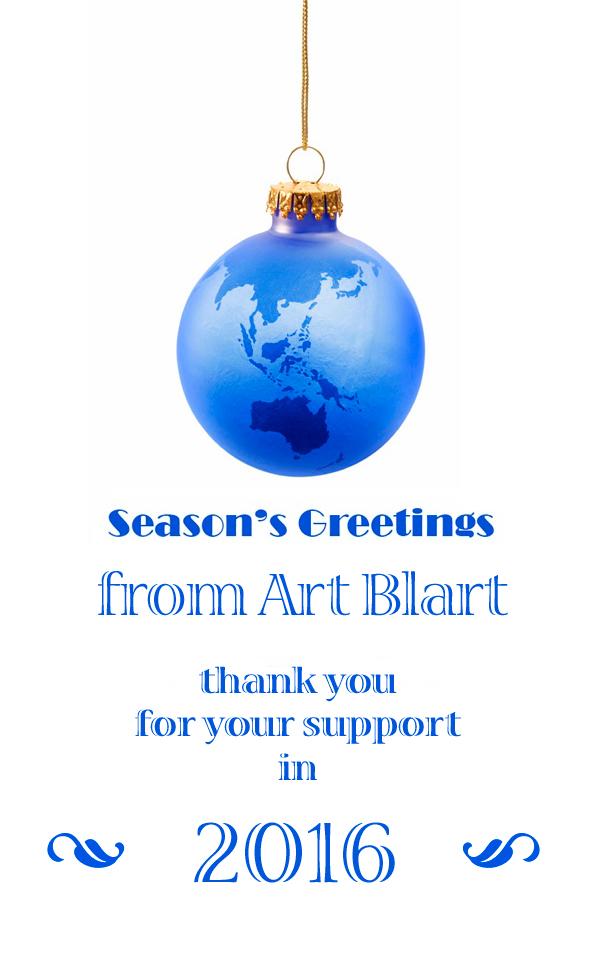 Season's greetings from Art Blart 2016