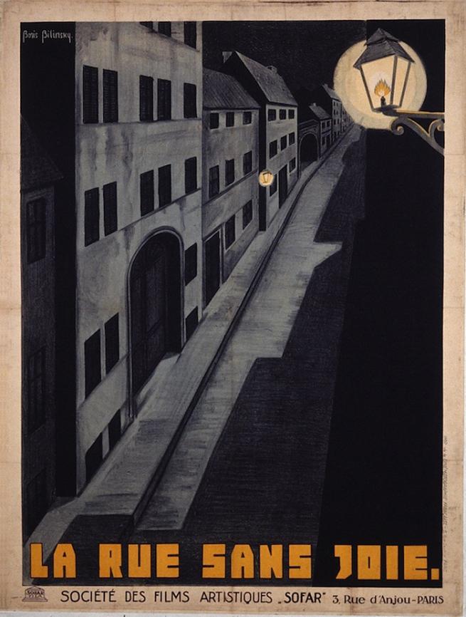 Boris Bilinsky (Russia, 1900-1948) 'Poster for The Joyless Street (Die freudlose Gasse)' c. 1925
