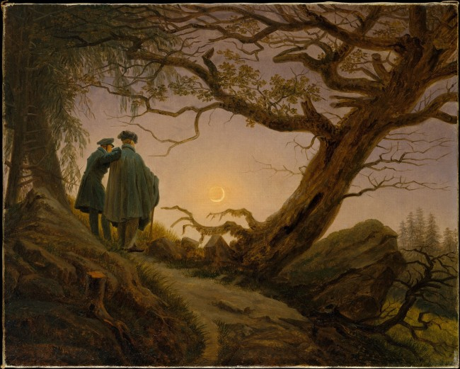 Caspar David Friedrich. 'Two Men Contemplating the Moon' c. 1825-30
