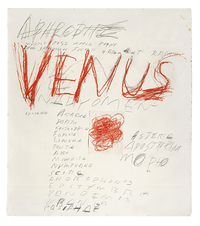 Cy Twombly. 'Venus' 1975