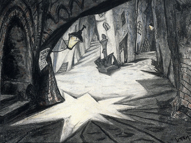 "'Set drawing for the""Das Kabinett des Dr Caligari"" (The Cabinet of Dr Caligari)' 1920"