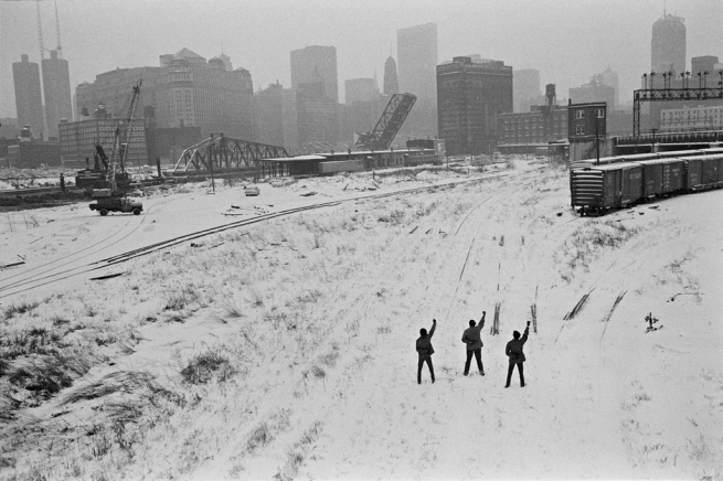 Hiroji Kubota. 'Black Panthers in Chicago, Illinois' 1969