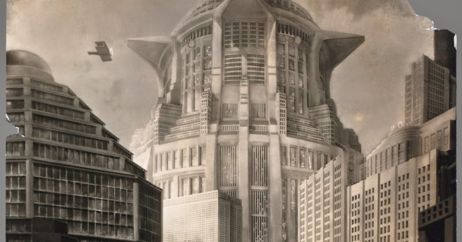"Horst von Harbou. 'Set photograph from ""Metropolis""' 1927 (detail)"