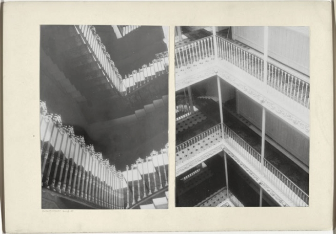 Josef Albers (American, born Germany 1888-1976) 'Hotel staircases, Geneva, 1929'