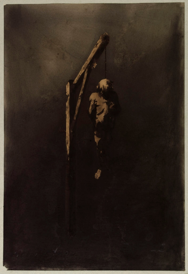 Victor Hugo. 'Le Pendu (The hanged man)' 1854