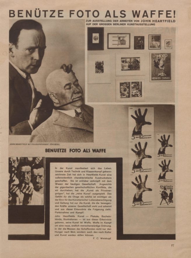 John Heartfield. 'Use photography as a weapon !' 1929
