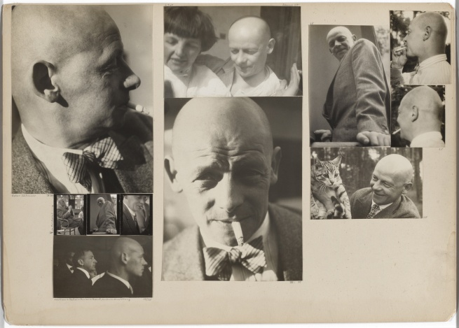 Josef Albers (American, born Germany 1888-1976) 'Oskar Schlemmer, April 1929; Schlemmer in the Bauhaus Masters' Council, 1928; Schlemmer with Hans Wittwer, Ernst Kállai, and Marianne Brandt, Preliminary Course Exhibition, 1927/28; Schlemmer and Tut, summer 1928; Schlemmer, April 1930; Schlemmer, 1928' 1927/1929